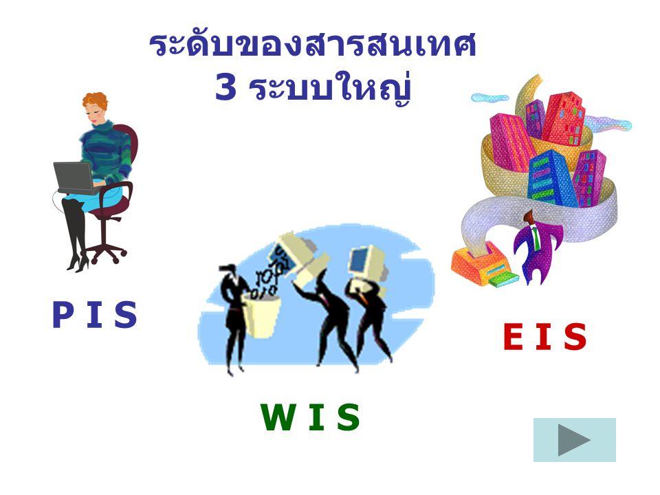 ระดับของสารสนเทศ 3 ระบบใหญ่ P I S W I S E I S