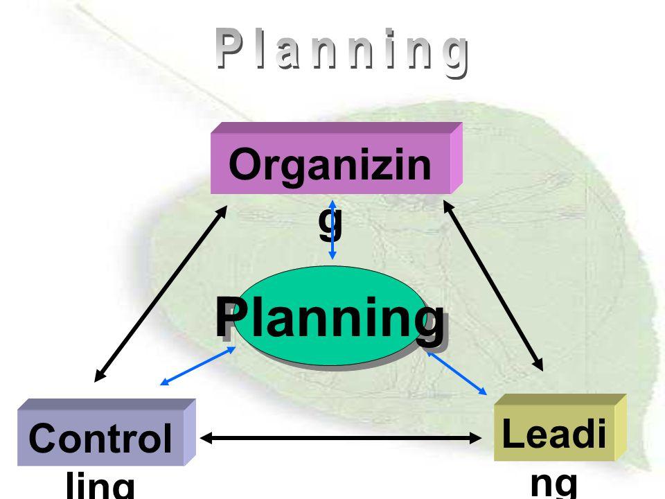 Inside -out and outside-in planning Inside - out – นำทรัพยากรขององค์การ มาวางแผน ให้เหมาะสม ตามที่มีอยู่ Outside - in – พิจารณาปัจจัยภายนอก แล้วเลือกมาวางแผนให้ องค์การ