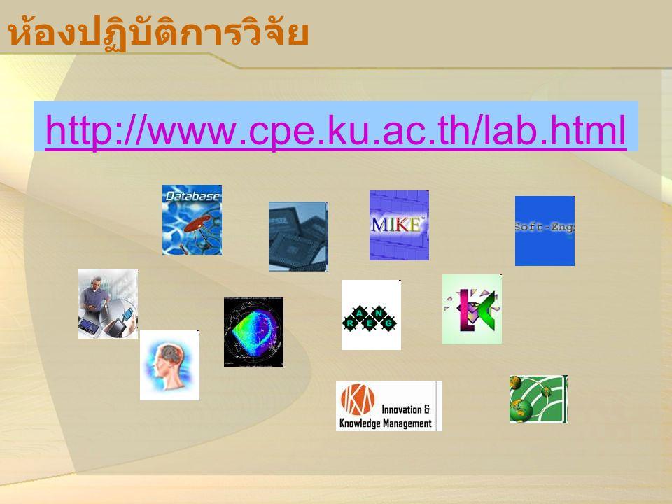 ห้องปฏิบัติการวิจัย http://www.cpe.ku.ac.th/lab.html