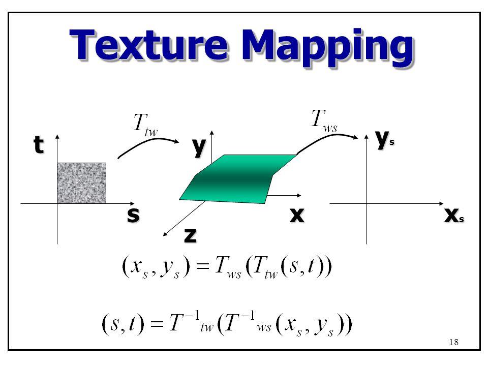 Texture Mapping stxyz xsxsxsxs ysysysys 18