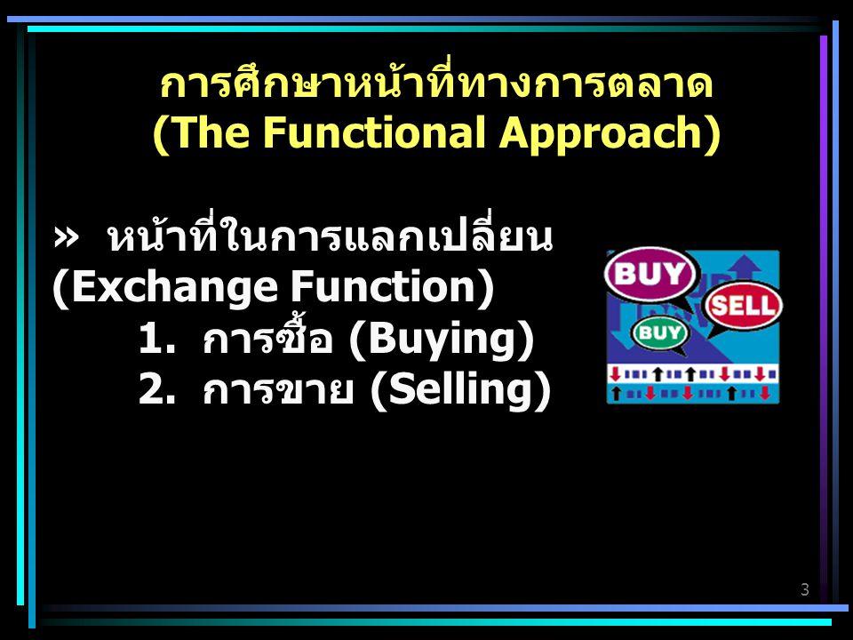 3 การศึกษาหน้าที่ทางการตลาด (The Functional Approach) » หน้าที่ในการแลกเปลี่ยน (Exchange Function) 1.