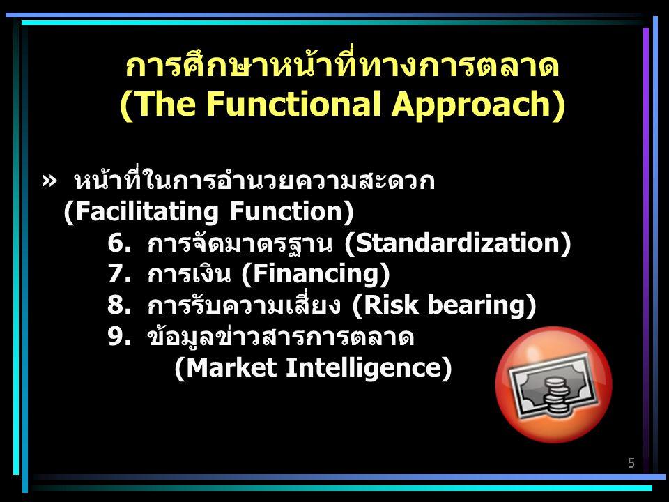 5 การศึกษาหน้าที่ทางการตลาด (The Functional Approach) » หน้าที่ในการอำนวยความสะดวก (Facilitating Function) 6.