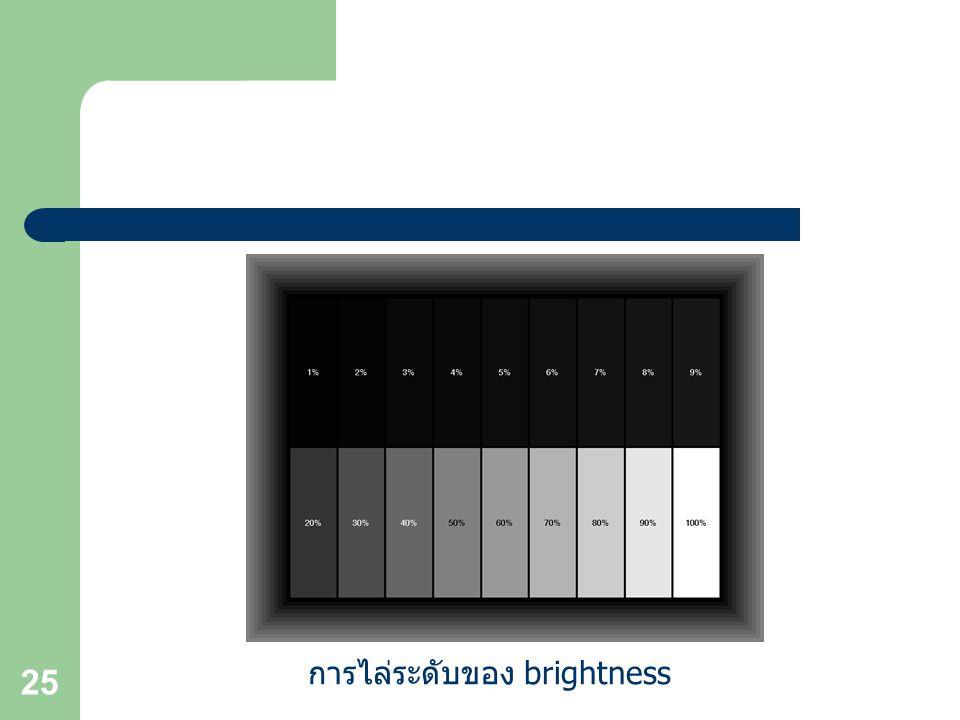25 การไล่ระดับของ brightness