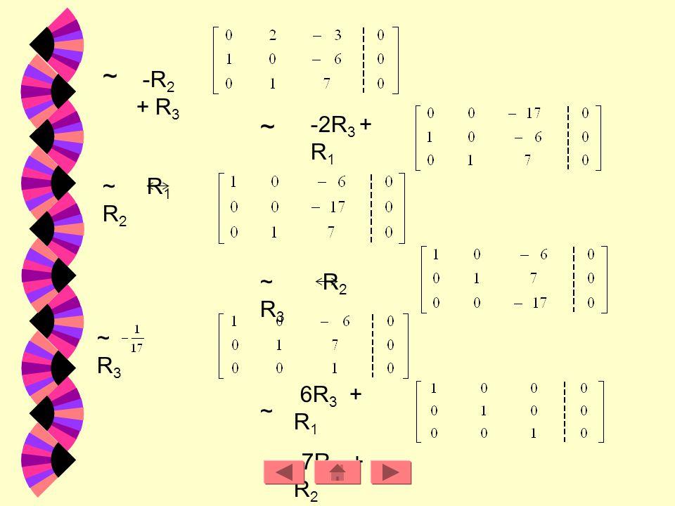 ข้อ. 8 วิธีทำ จากระบบสมการเชิงเส้น สามารถเปลี่ยนให้อยู่ในรูปเมตริกซ์แต่งเติมได้ดังนี้ ~ - R 2 + R 3 ~- R 3 + R 2 ~ -R 2 + R 1 ~ -2R 1 + R 2