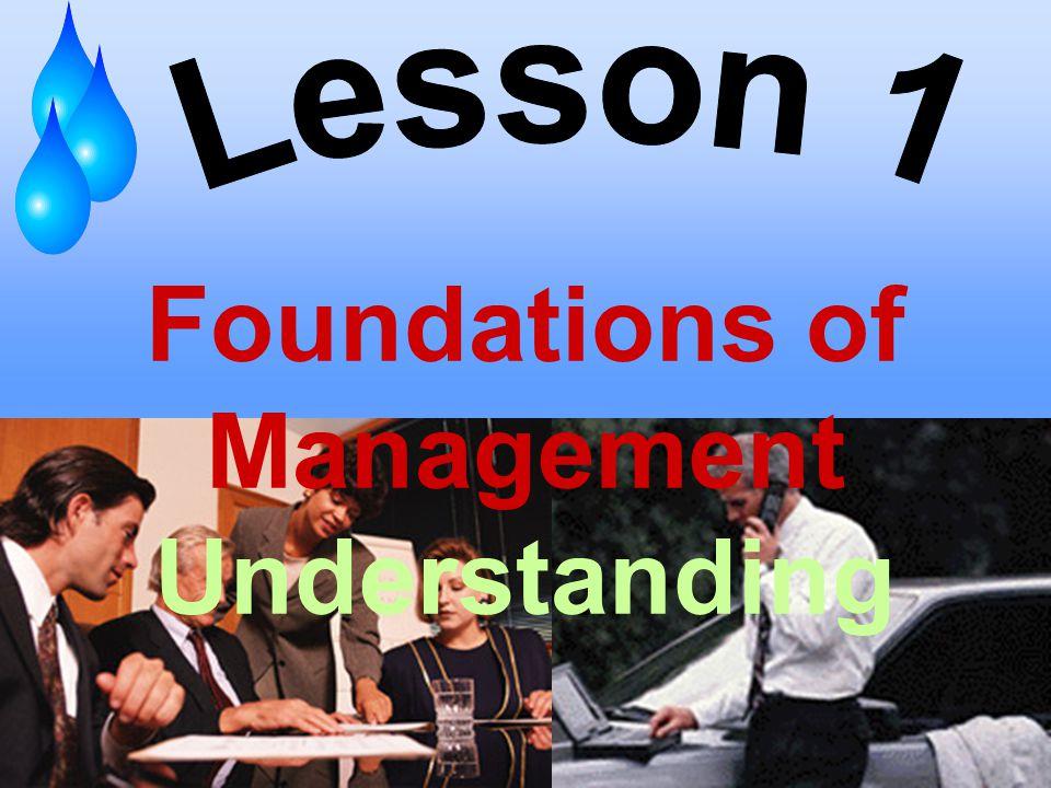 Foundations of Management Understanding