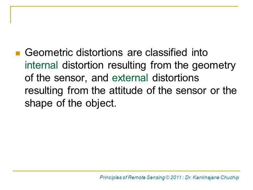 Internal Errors Principles of Remote Sensing © 2011 : Dr. Kankhajane Chuchip