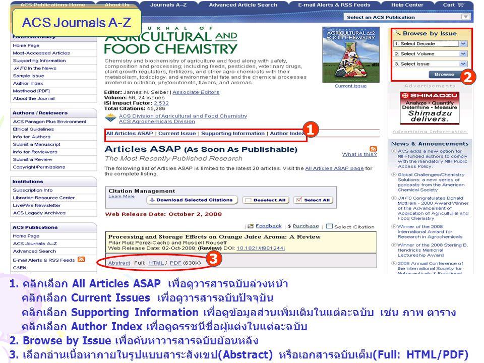 ACS Journals A-Z 1.