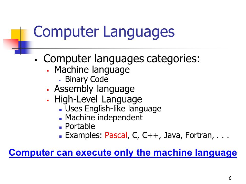 5 Computer Systems Hardware (HW) Actual physical machines (equipment) that make up the computer Software (SW) Programs written for a specific applicat