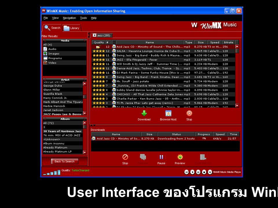 เว็บไซต์ http://www.winmxworld.com สำหรับชุมชนผู้ใช้ WinMX