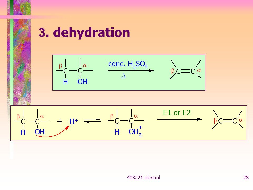 403221-alcohol28 3. dehydration