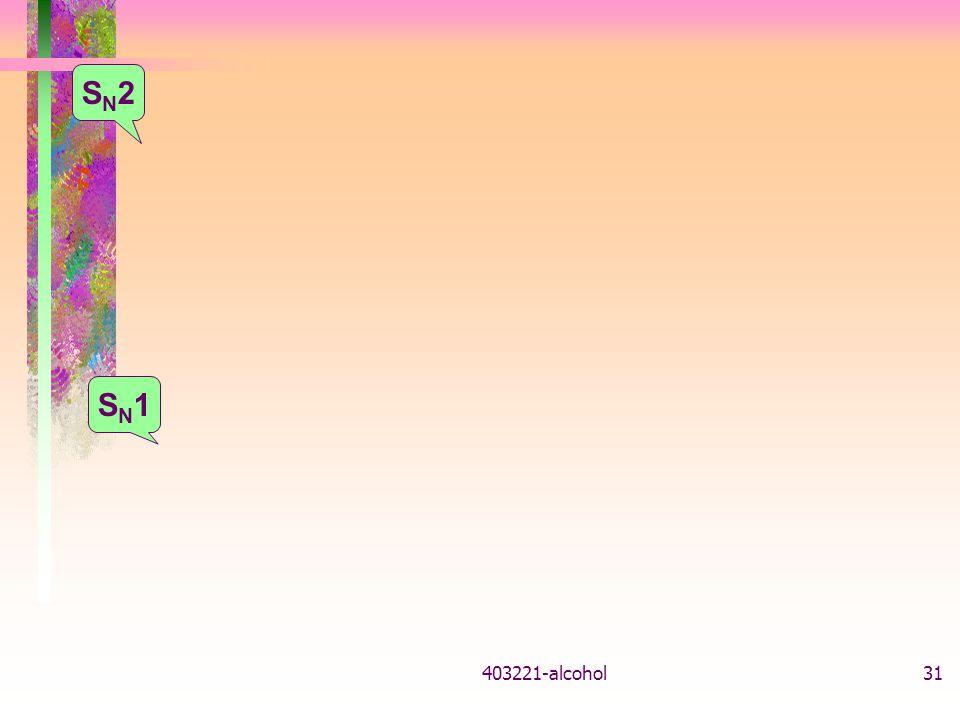 403221-alcohol31 SN1SN1 SN2SN2