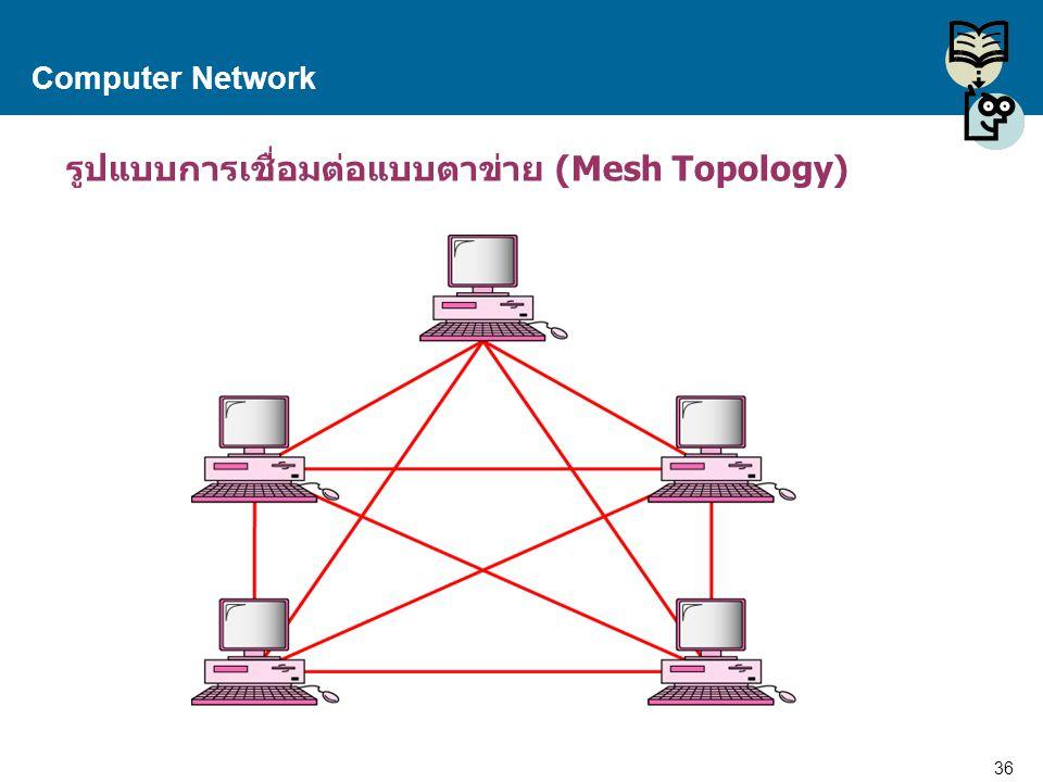 36 Proprietary and Confidential to Accenture Computer Network รูปแบบการเชื่อมต่อแบบตาข่าย (Mesh Topology)