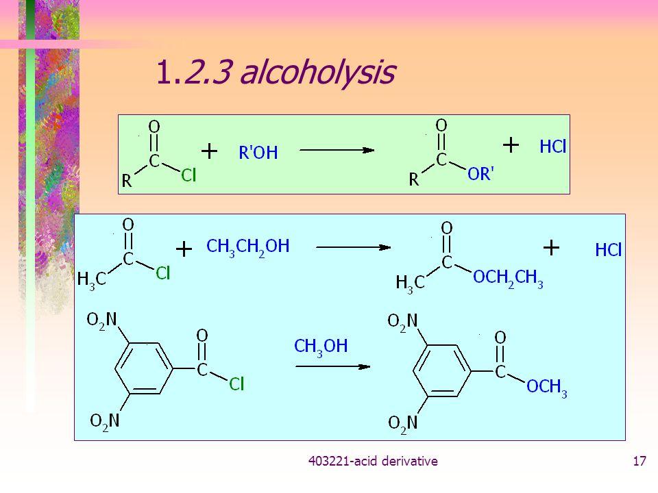 403221-acid derivative17 1.2.3 alcoholysis