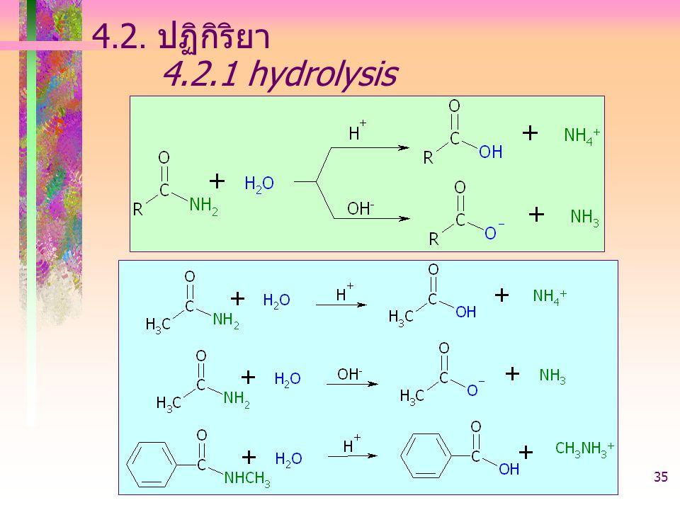 403221-acid derivative35 4.2. ปฏิกิริยา 4.2.1 hydrolysis
