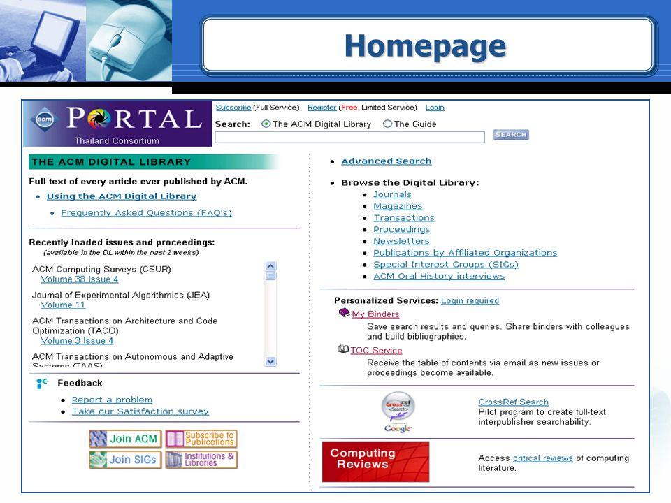 HomepageHomepage