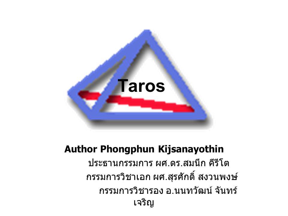 Taros Author Phongphun Kijsanayothin ประธานกรรมการ ผศ.