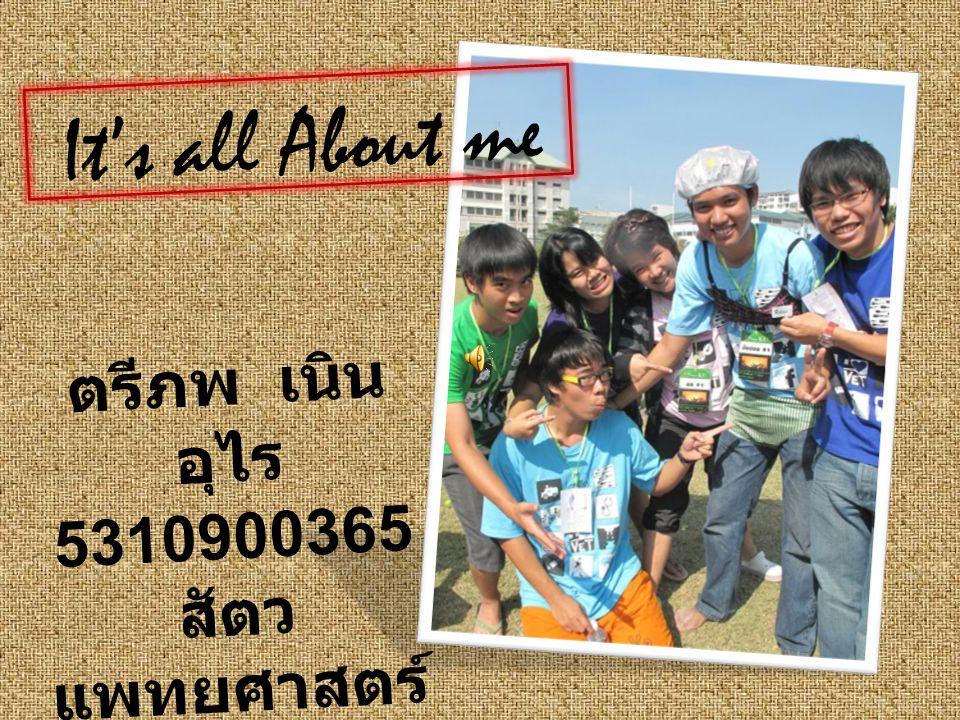 ตรีภพ เนิน อุไร 5310900365 สัตว แพทยศาสตร์ It's all About me