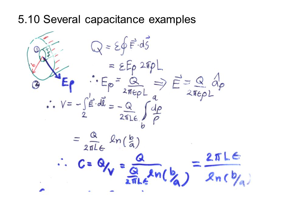 5.10 Several capacitance examples