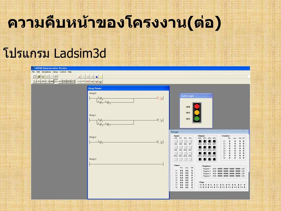 ความคืบหน้าของโครงงาน(ต่อ) โปรแกรม Ladsim3d