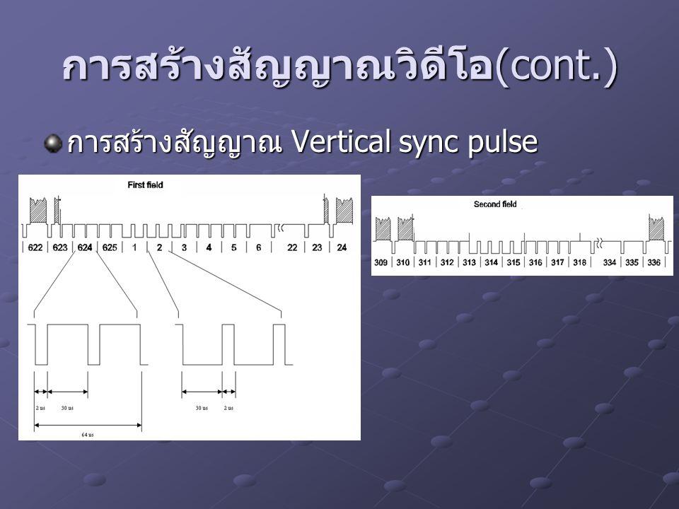 การสร้างสัญญาณ Vertical sync pulse