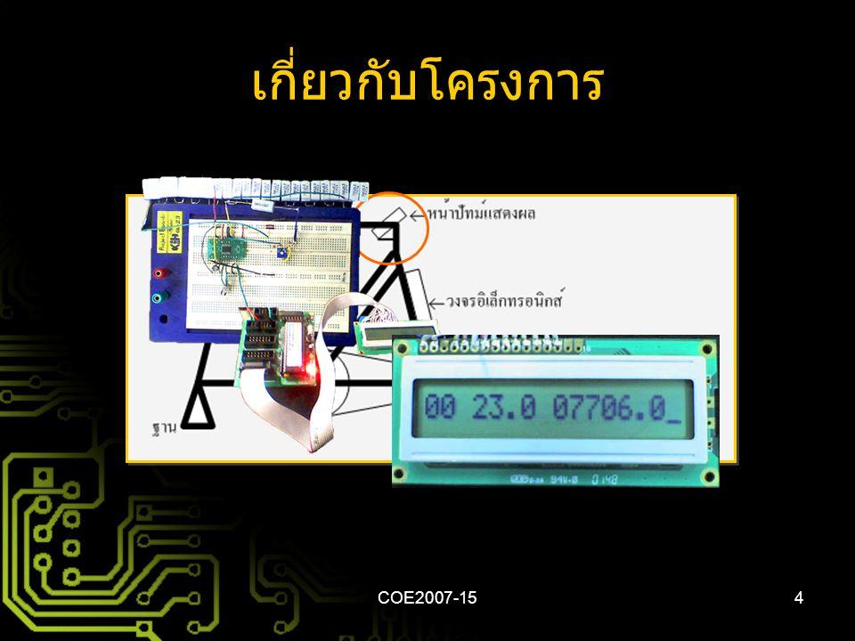 COE2007-154 เกี่ยวกับโครงการ
