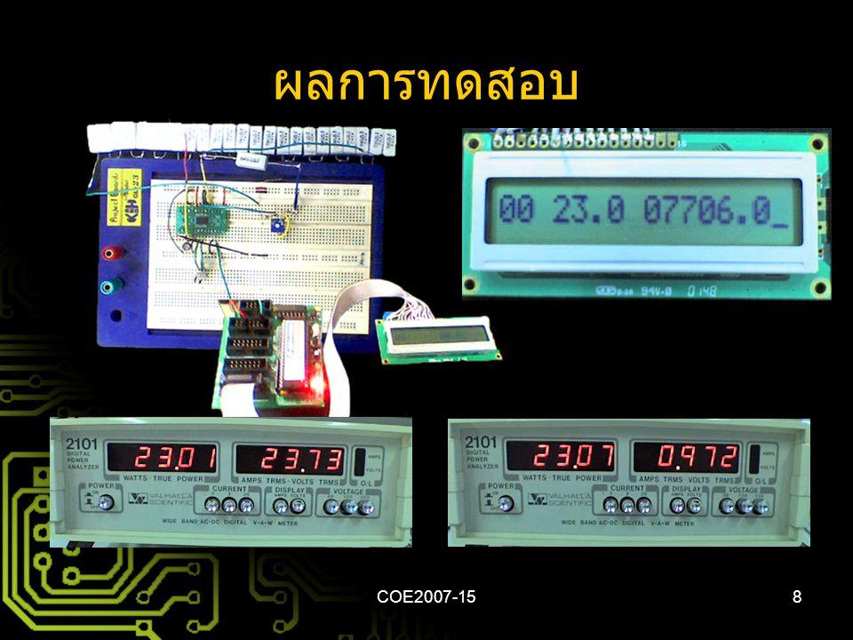COE2007-158 ผลการทดสอบ