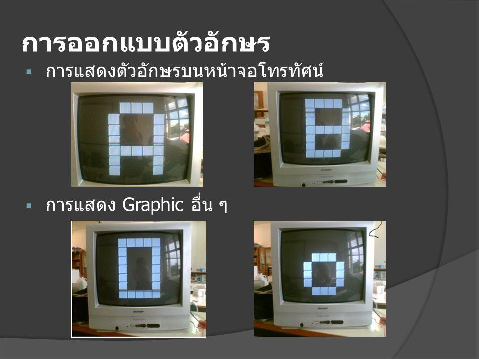 การปรับปรุงขนาดของตัวอักษร  การแสดงตัวอักษรบนหน้าจอโทรทัศน์แบบ หลายตัวอักษร