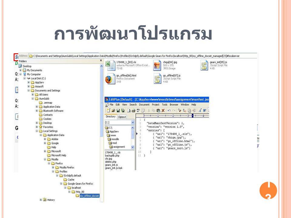 การพัฒนาโปรแกรม 13