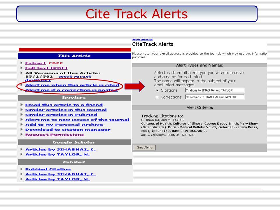 Cite Track Alerts