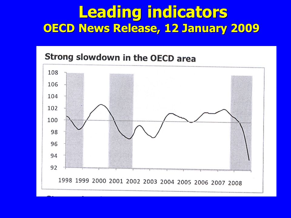 Leading indicators OECD News Release, 12 January 2009