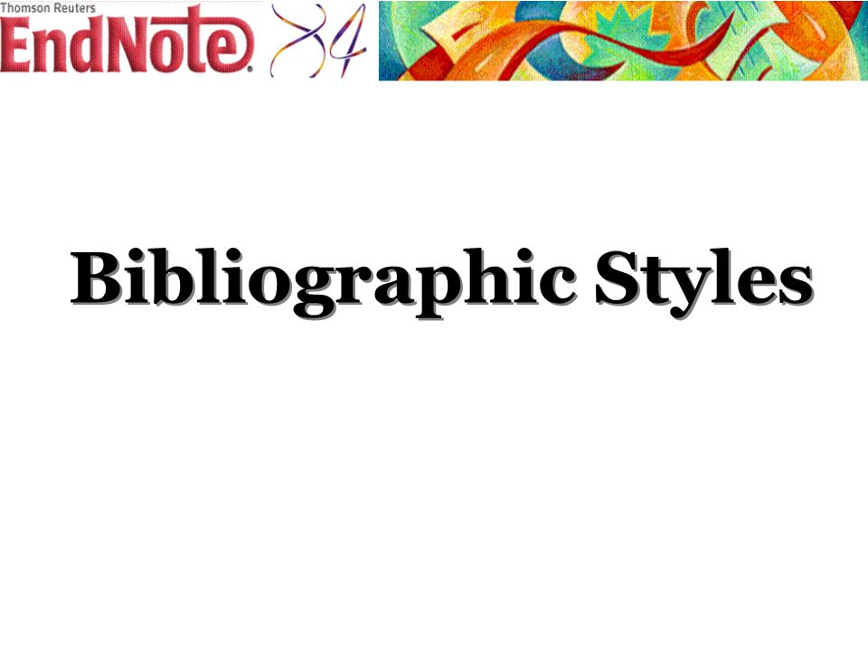 Bibliographic Styles