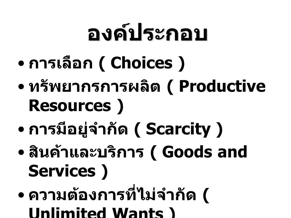 PPC ชี้ถึง กฎว่าด้วยการมีอยู่อย่างจำกัด การเลือก ต้นทุนค่าเสียโอกาส