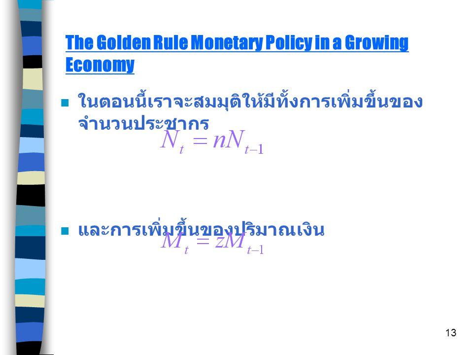 12 ( กราฟแสดงการเปรียบเทียบดุลยภาพระหว่าง budget กับ feasible ซึ่ง แสดงให้เห็นถึงความไม่มีประสิทธิภาพของระบบเงินเมื่อเกิดภาวะ เงินเฟ้อ )