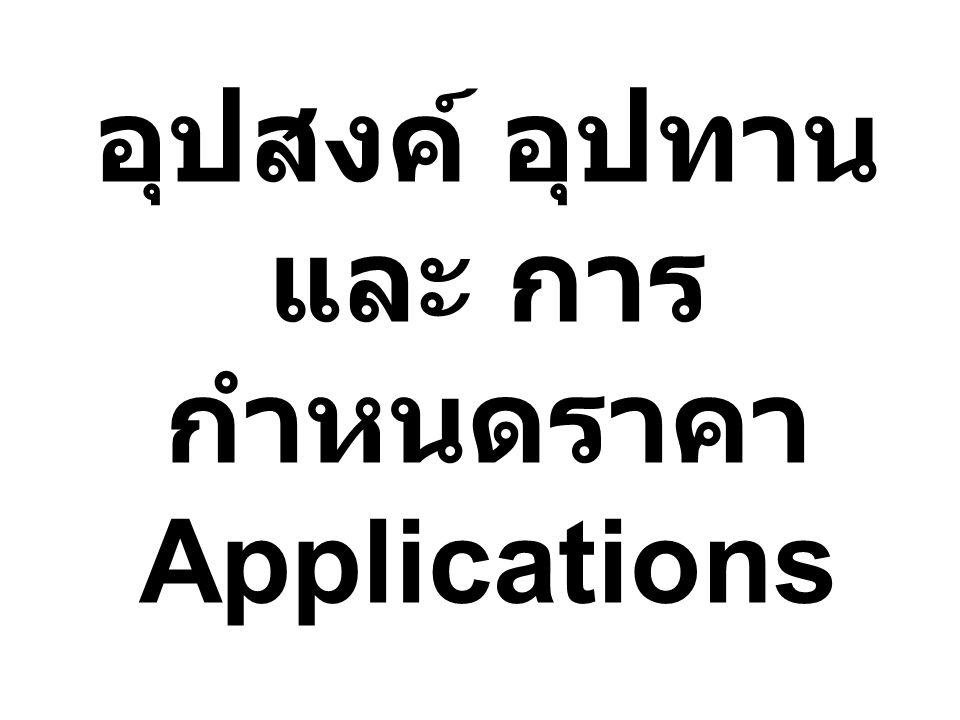 อุปสงค์ อุปทาน และ การ กำหนดราคา Applications