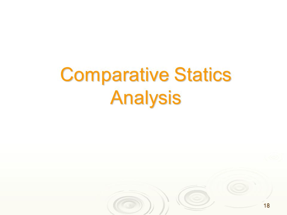18 Comparative Statics Analysis