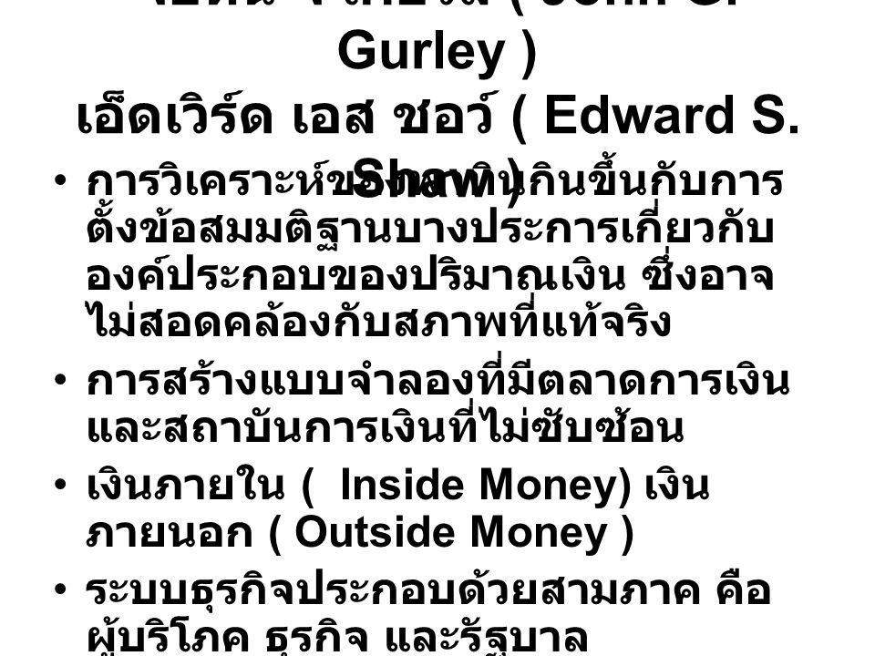 จอห์น จี เกอร์ลี ( John G.Gurley ) เอ็ดเวิร์ด เอส ชอว์ ( Edward S.
