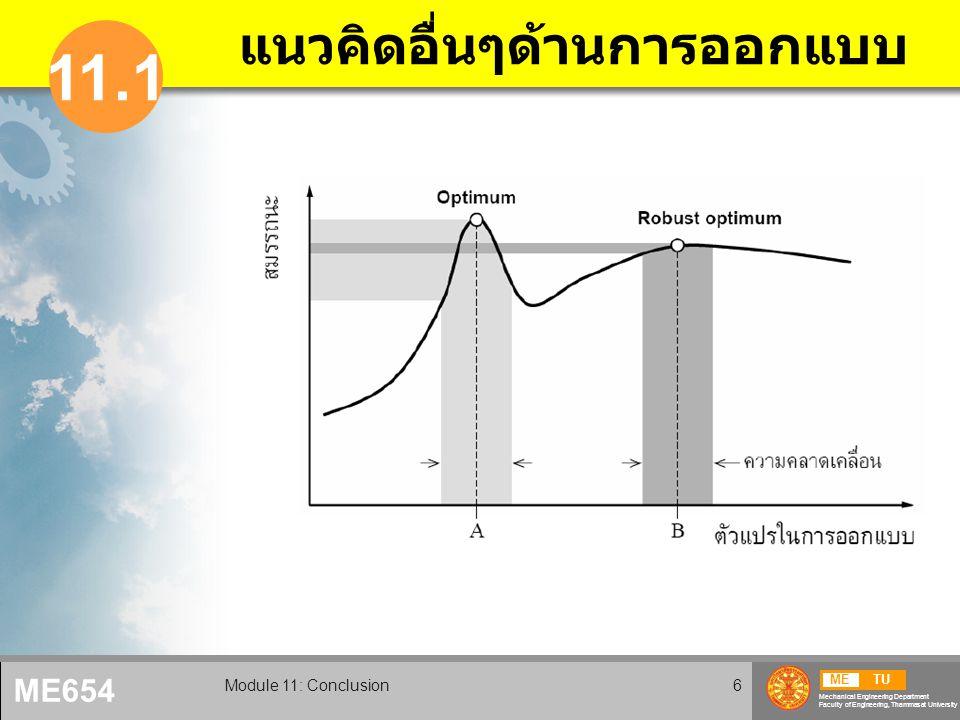 METU Mechanical Engineering Department Faculty of Engineering, Thammasat University ME654 Module 11: Conclusion7 สิ่งรบกวน ภายใน และภายนอก
