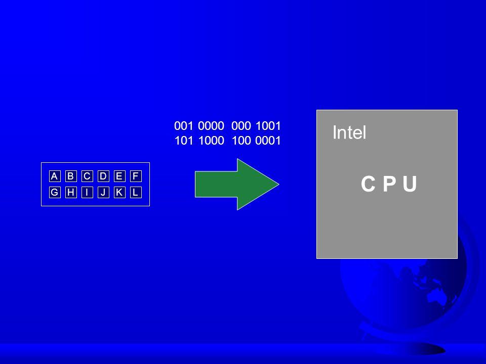 Intel C P U 001 0000 000 1001 101 1000 100 0001 ABCD GHIJ EF KL