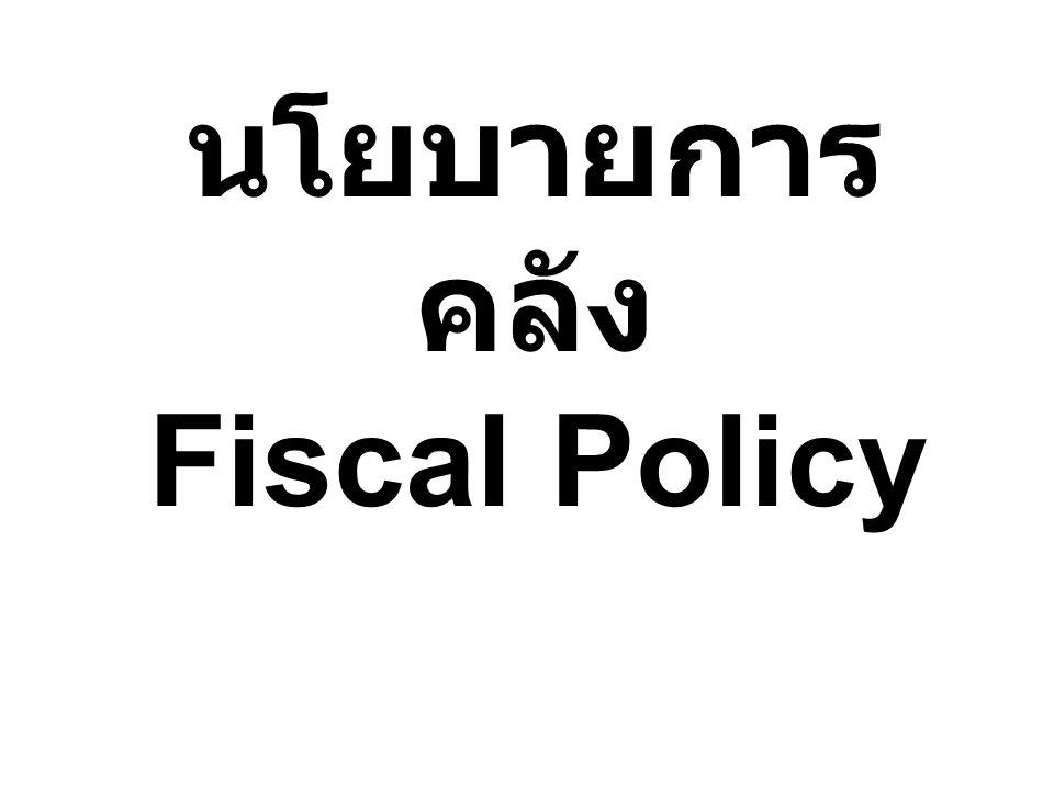 นโยบายการ คลัง Fiscal Policy