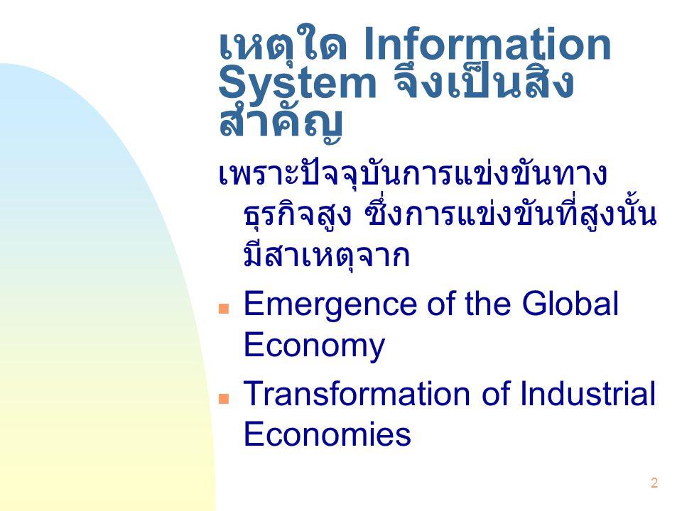 3 Information System คืออะไร .