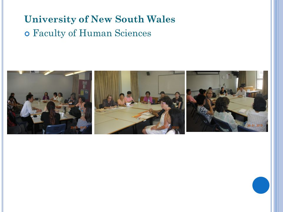 University of New South Wales Faculty of Human Sciences