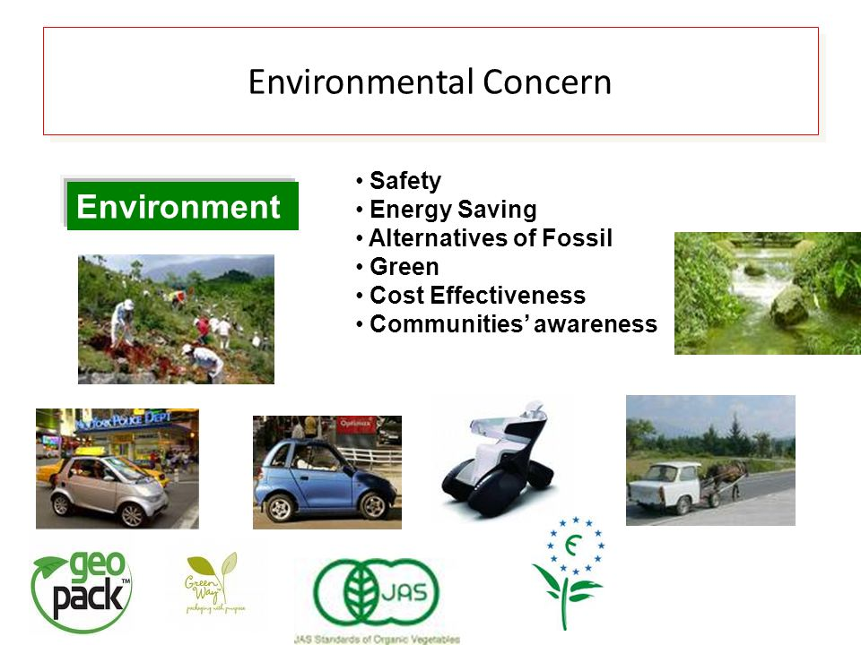Environment Safety Energy Saving Alternatives of Fossil Green Cost Effectiveness Communities' awareness Environmental Concern
