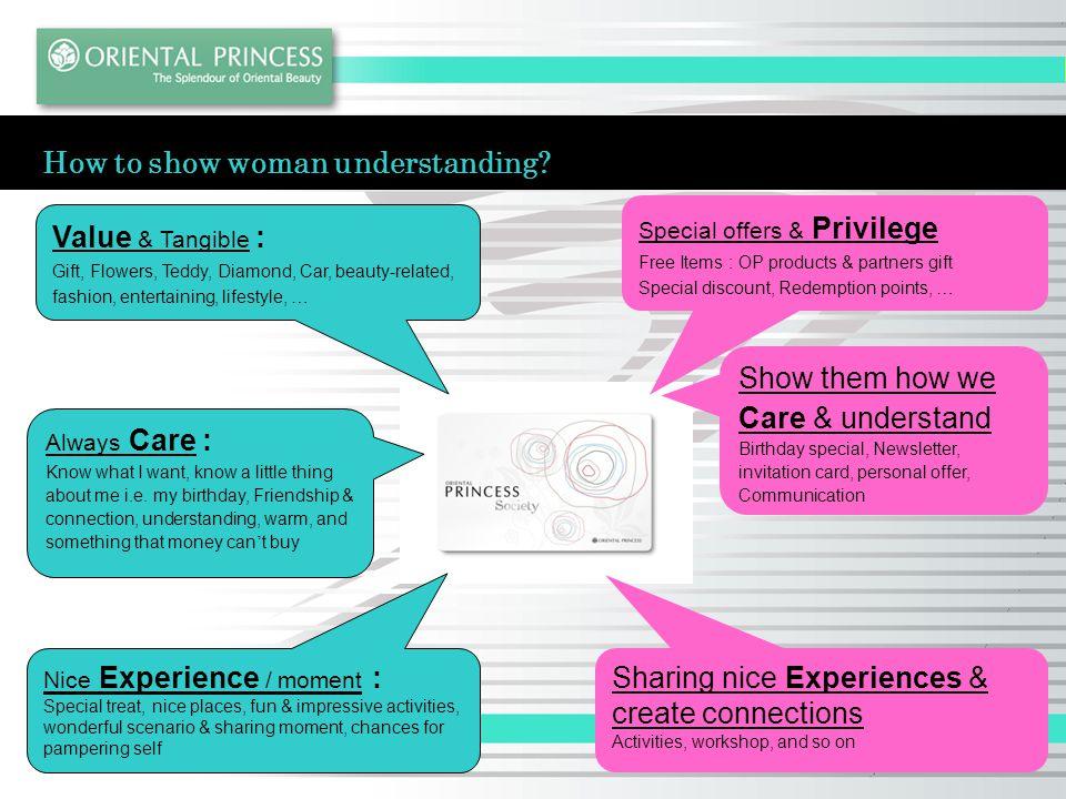 How to show woman understanding.