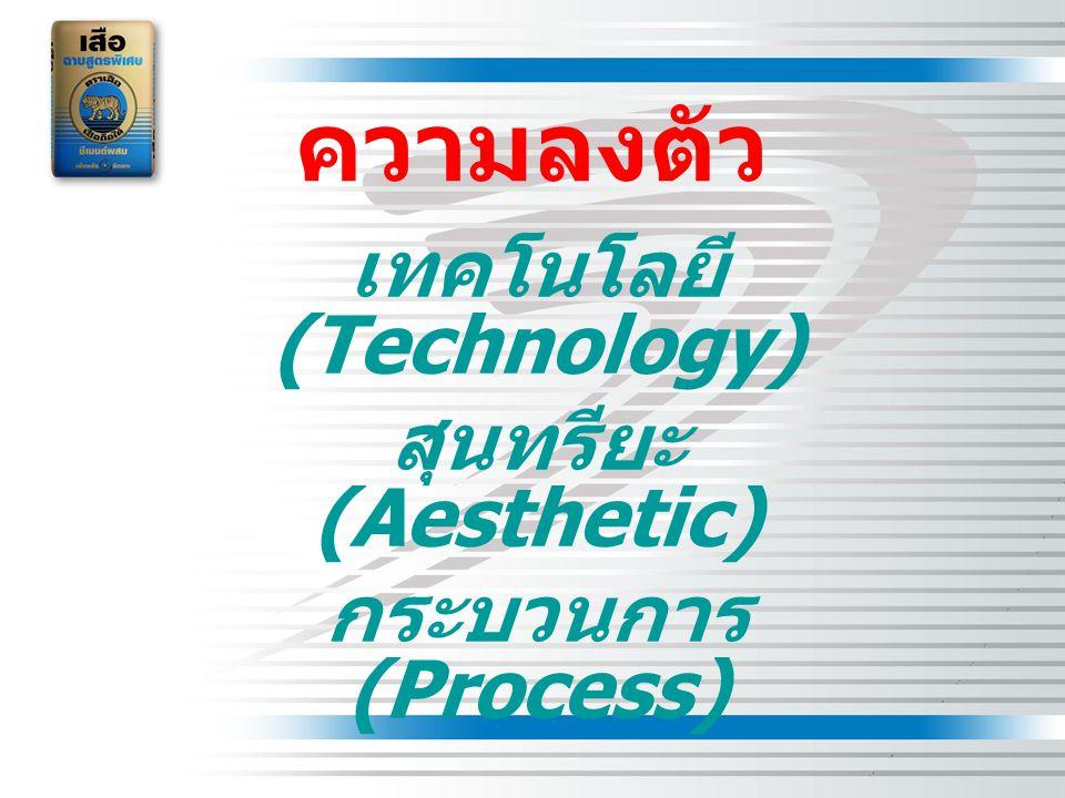 ความลงตัว เทคโนโลยี (Technology) สุนทรียะ (Aesthetic) กระบวนการ (Process)