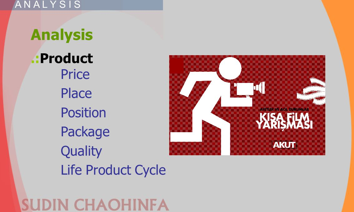 Analysis.:Product Price Place Position Package Quality Life Product Cycle A N A L Y S I S