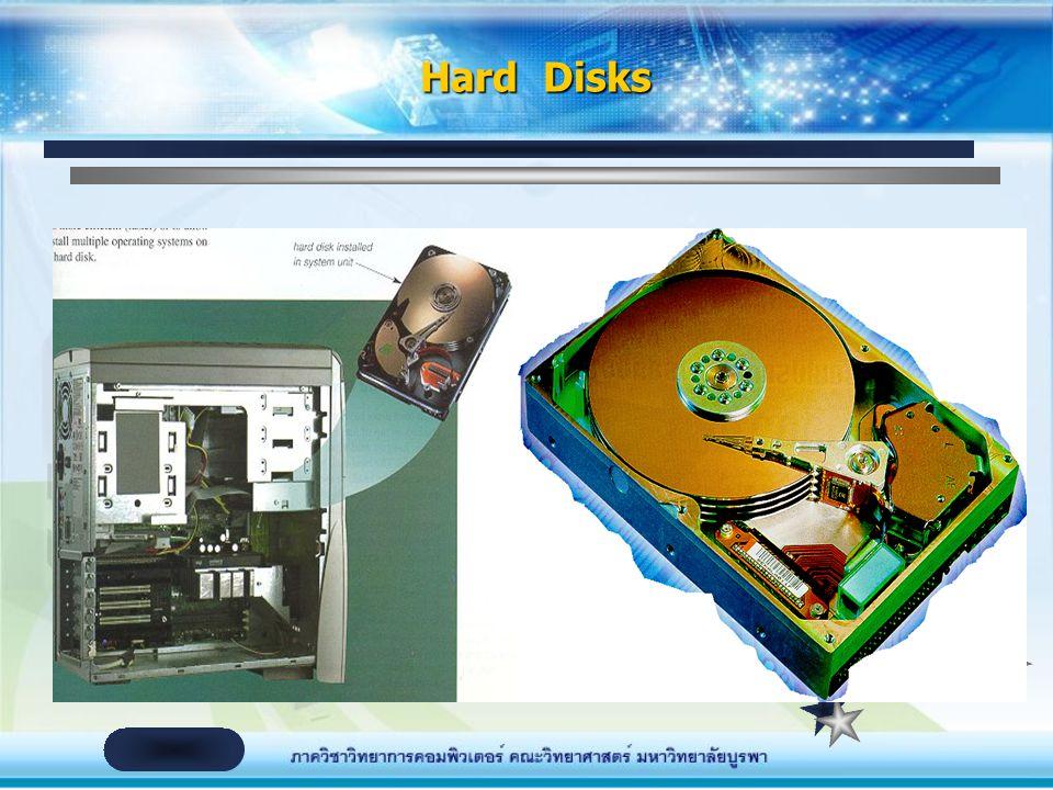 อุปกรณ์ที่อยู่ภายในตัวเครื่อง จานแม่เหล็กบันทึกข้อมูลชนิดแข็ง (Hard Disk)