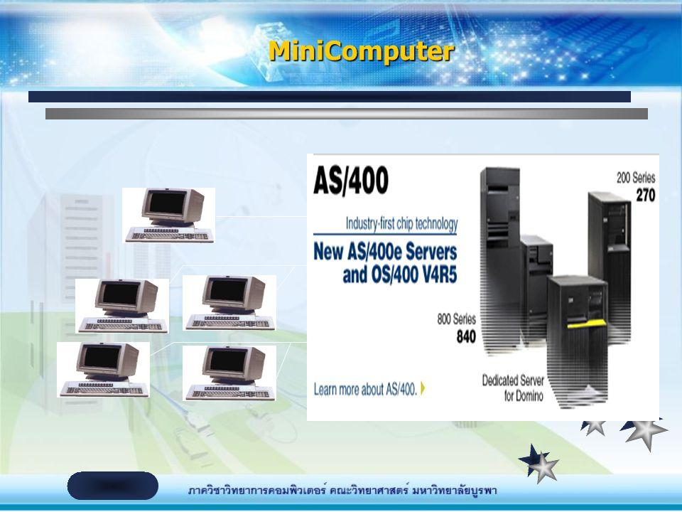 จัดเป็นคอมพิวเตอร์ขนาดกลาง ประสิทธิภาพอยู่ ระหว่าง Mainframe และ PC Computer ใช้ในการประมวลผลข้อมูลที่ต้องการประสิทธิภาพสูง กว่า PC เช่น องค์กรขนาดกลา