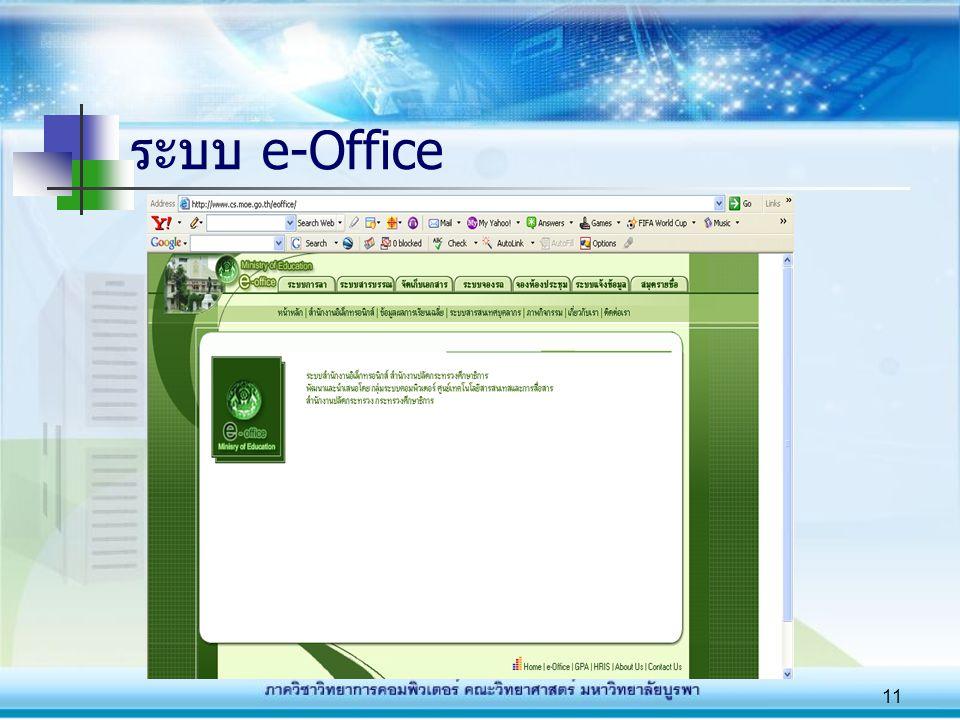11 ระบบ e-Office