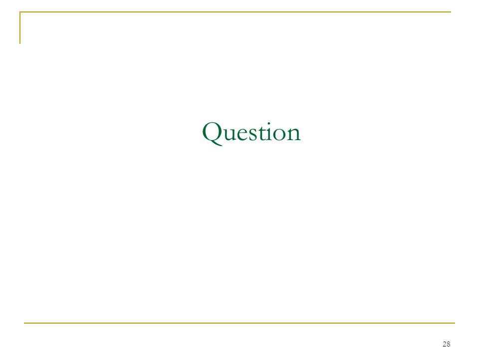 28 Question