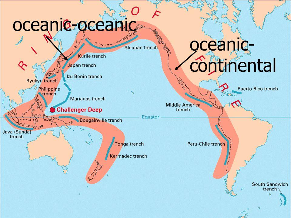 oceanic-oceanic oceanic- continental